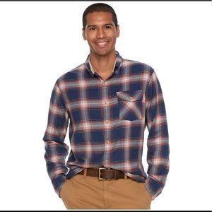 Men's Button-Down Shirt- Stretch Fabric Blend